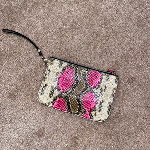 Victoria Secret snake skin wrist wallet